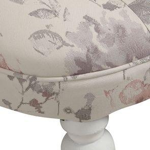 Fauteuil crapaud en hévéa blanc et tissu fleurs opaline - Bastien - Visuel n°9