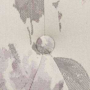 Fauteuil crapaud en hévéa blanc et tissu fleurs opaline - Bastien - Visuel n°10
