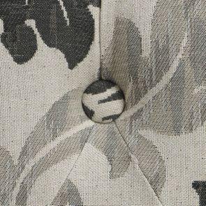 Pouf en hévéa gris et tissu arabesque capitonné - Alfred - Visuel n°10