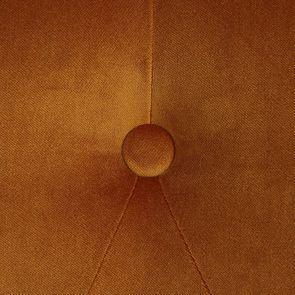 Fauteuil en tissu velours safran et hévéa massif noir - Léopold - Visuel n°8
