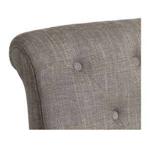 Fauteuil en tissu gris chambray et frêne massif - Léopold - Visuel n°8