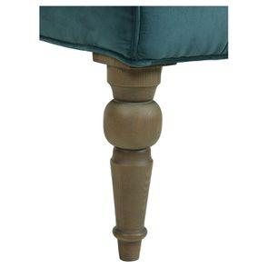 Fauteuil en tissu velours vert bleuté - Léopold