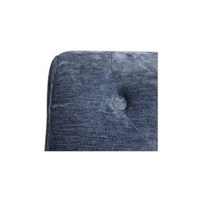 Fauteuil en tissu velours bleu - Léopold - Visuel n°7
