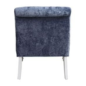 Fauteuil en tissu velours bleu - Léopold - Visuel n°5