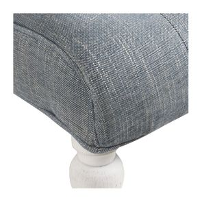 Fauteuil en tissu bleu chambray - Léopold - Visuel n°9