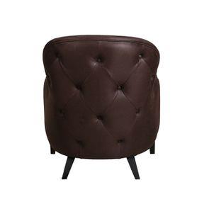 Fauteuil en éco-cuir chocolat - Oscar - Visuel n°3