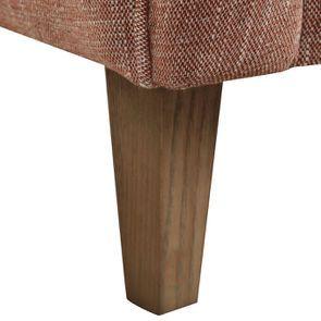 Fauteuil en frêne et tissu orange briqué - Oscar - Visuel n°8