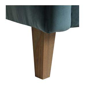 Fauteuil en frêne et tissu velours vert bleuté - Oscar