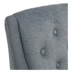 Fauteuil de table en tissu velours vert sauge - Joseph - Visuel n°8