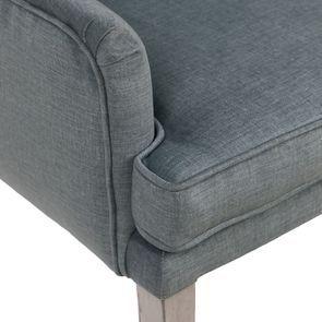 Fauteuil de table en tissu velours vert sauge - Joseph - Visuel n°9