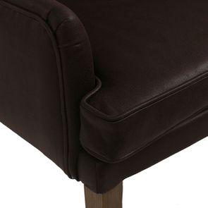 Fauteuil de table en éco-cuir chocolat - Joseph - Visuel n°9