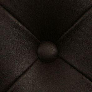 Fauteuil de table en éco-cuir chocolat - Joseph - Visuel n°10