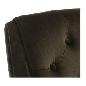 Fauteuil de table en tissu velours kaki - Joseph - Visuel n°8