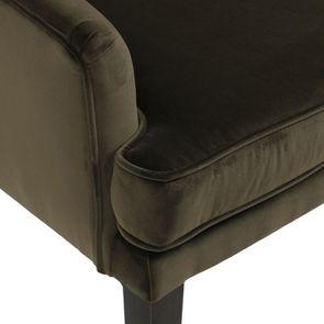 Fauteuil de table en tissu velours kaki - Joseph - Visuel n°9