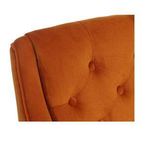 Fauteuil de table en tissu velours safran - Joseph - Visuel n°8