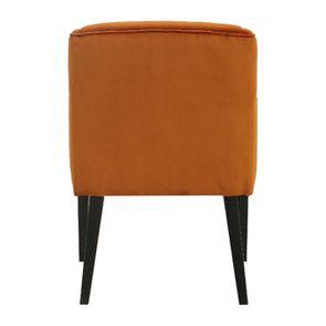 Fauteuil de table en tissu velours safran - Joseph - Visuel n°5