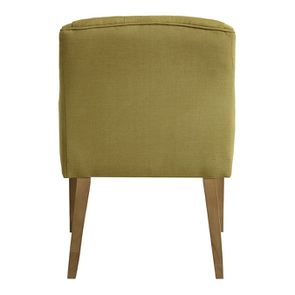 Fauteuil de table en tissu vert vif - Joseph - Visuel n°4