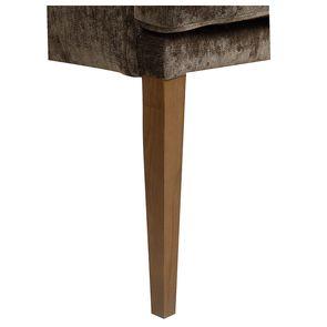 Fauteuil de table en velours bronze - Joseph