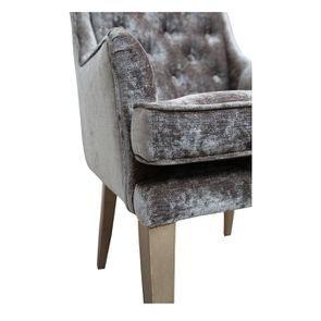 Fauteuil de table en velours bronze - Joseph - Visuel n°8
