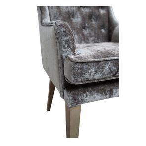 Fauteuil de table en velours bronze - Joseph - Visuel n°9