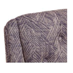 Fauteuil de table en tissu mosaïque indigo - Joseph - Visuel n°8