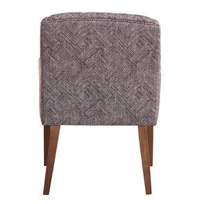 Fauteuil de table en tissu mosaïque indigo - Joseph - Visuel n°5