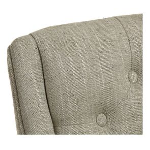 Fauteuil de table en tissu vert amande - Joseph - Visuel n°8