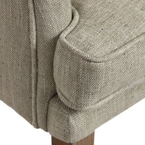 Fauteuil de table en tissu vert amande - Joseph - Visuel n°9