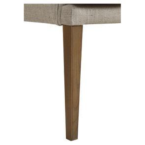 Fauteuil de table en tissu mastic grisé - Joseph