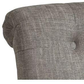 Fauteuil en tissu gris chambray - Émile