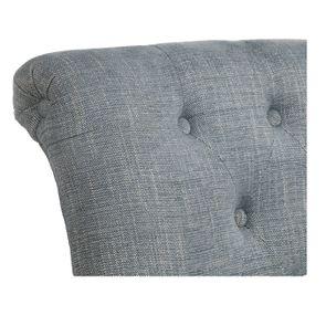 Fauteuil en tissu bleu chambray et frêne massif - Emile - Visuel n°8