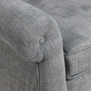 Fauteuil en tissu bleu chambray et frêne massif - Emile - Visuel n°9
