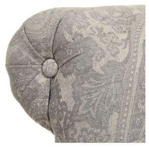 Fauteuil en tissu cachemire gris - Emile - Visuel n°2