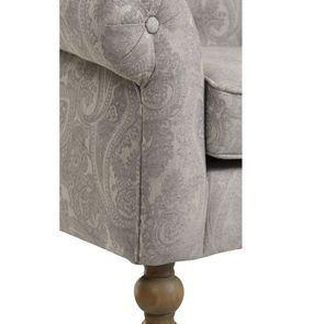 Fauteuil en tissu cachemire gris - Emile - Visuel n°3