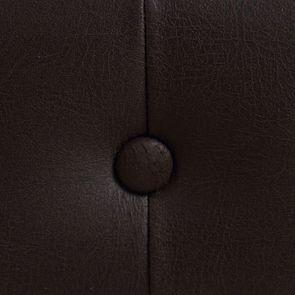 Fauteuil cabriolet en frêne massif et éco-cuir chocolat - Théodore