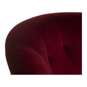 Fauteuil en velours lie de vin et hévéa massif noir - Théodore - Visuel n°8
