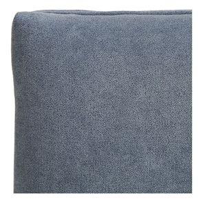 Banc ottoman en tissu velours bleu gris sans capitons - Gaspard - Visuel n°8