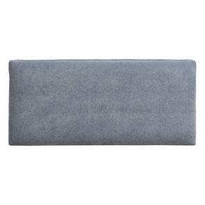 Banc ottoman en tissu velours bleu gris sans capitons - Gaspard - Visuel n°5