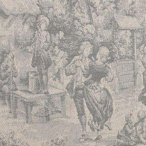 Banc ottoman en tissu toile de Jouy sans capitons - Gaspard - Visuel n°7