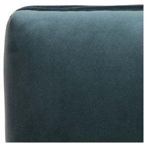 Banc ottoman en tissu velours vert bleuté sans capitons - Gaspard - Visuel n°8