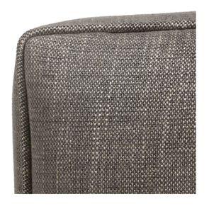 Pouf en frêne et en tissu gris chambray - Alfred - Visuel n°7