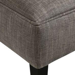 Pouf en frêne et en tissu gris chambray - Alfred - Visuel n°8