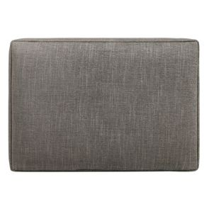 Pouf en frêne et en tissu gris chambray - Alfred - Visuel n°9