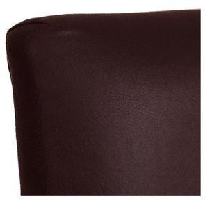 Chaise haute personnalisable en éco-cuir chocolat - Ariane - Visuel n°8