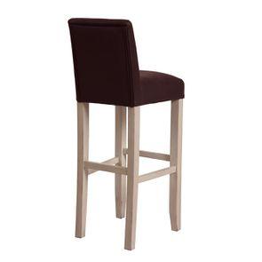Chaise haute personnalisable en éco-cuir chocolat - Ariane - Visuel n°4