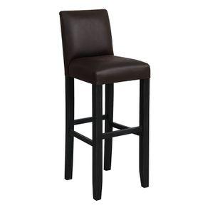 Chaise haute personnalisable en tissu éco-cuir chocolat - Ariane - Visuel n°2