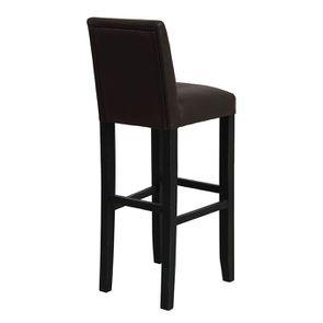 Chaise haute personnalisable en tissu éco-cuir chocolat - Ariane - Visuel n°3