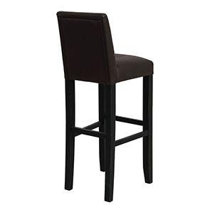 Chaise haute personnalisable en tissu éco-cuir chocolat - Visuel n°6