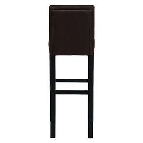Chaise haute personnalisable en tissu éco-cuir chocolat - Visuel n°7