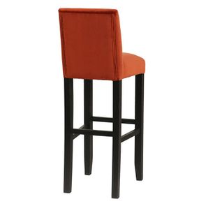 Chaise haute en velours rouille et hévéa massif noir - Ariane - Visuel n°4